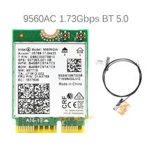 Z 2 szt Anten dla Intel 9560AC 9560NGW 1 73 gb s karta bezprzewodowa M2 CNVi karta Wifi 802 11ac Bluetooth 5 0 dla Windows 10 tanie tanio WTXUP 1730Mbps CN (pochodzenie) Wewnętrzny wireless Pulpit 802 11a g 802 11n NGFF 2 4G i 5G ETHERNET 1 73Gbps M 2 Key E(CNVi)