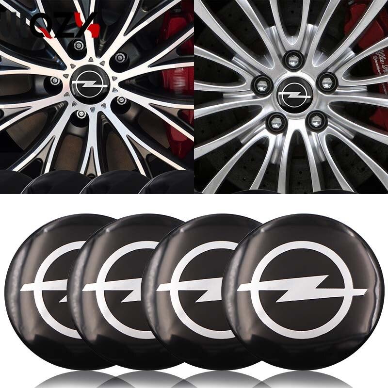 4Pcs Car Styling Car Tire Wheel Center Hub Cap Sticker Emblems For Opel Astra H G J Corsa Insignia Antara Meriva Car Accessories