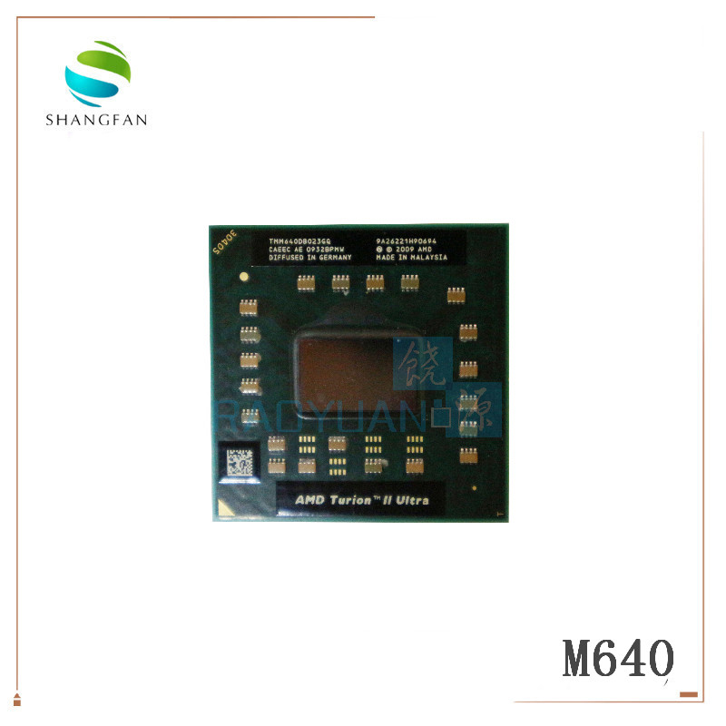 AMD Turion II Ultra Dual-Core Mobile TMM640 M640 TMM640DB022GQ 2.6G 2M Cpu Latop Processor Socket S1(SIG3)