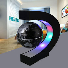 LED Globe Light Bedroom Living Room Study Home Globe Lamp Novelty World Map Decoration DIY Magnetic Levitation Globe Light