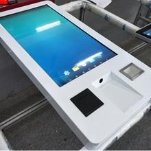 Настенный все в одном ПК Встроенный самообслуживание отель банк Ресторан терминал ЖК сенсорный экран NFC/ORC кард-ридер киоск