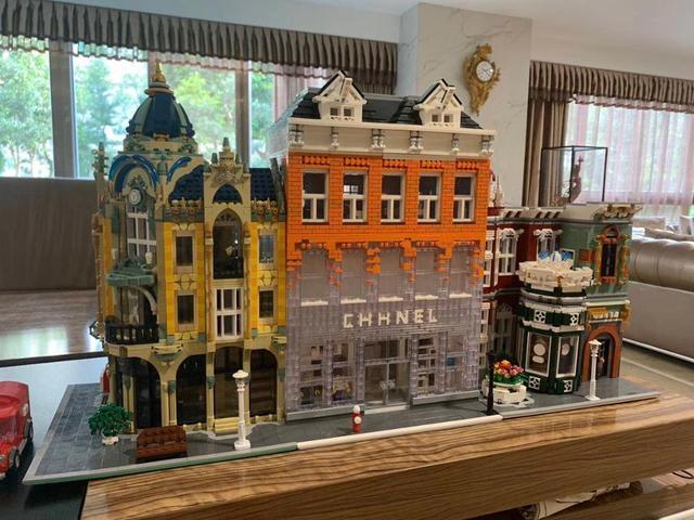 Lepining criador tijolos de arquitetura cidade, especialista, vista de rua, modelo, kit de blocos de construção, adequado para lego, brinquedos para crianças, diy, presentes
