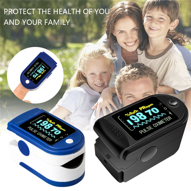 Oximeter Saturation Heart Rate Monitoring Finger Clip Pulse Detection Fingertip Home Detector With OLED Display Pulse Oxymeter
