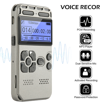 Voice-Activated Recording One-Button Record 8G Capacity 4