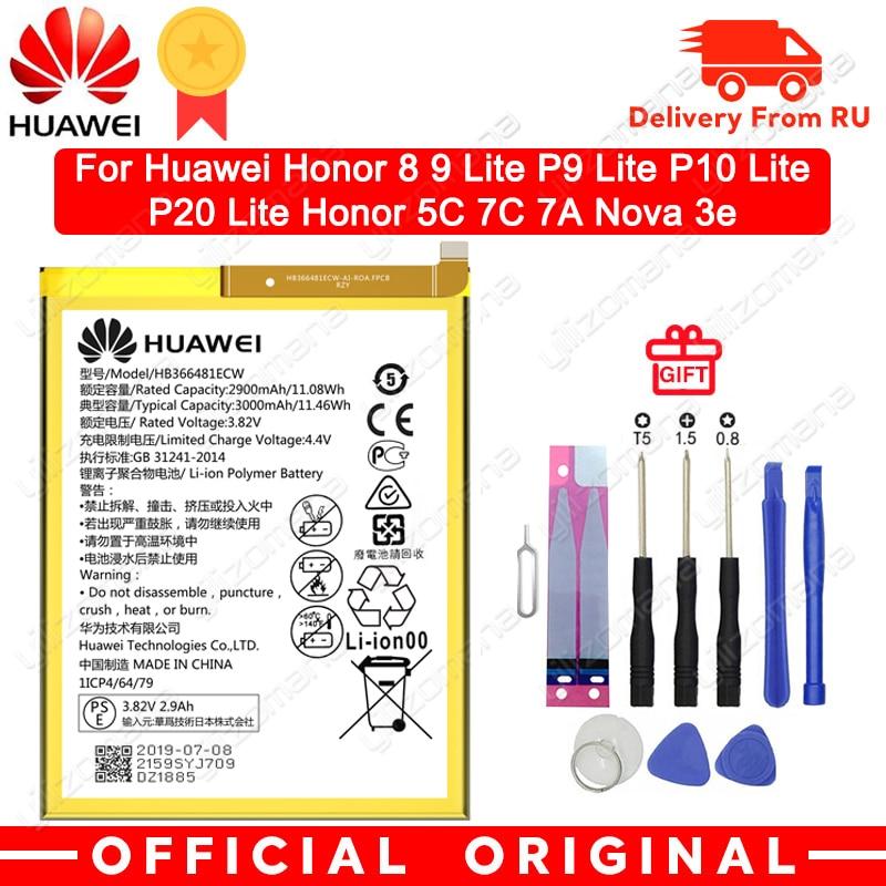 Bateria original do telefone de hua wei hb366481ecw para huawei honra 8 honra 8 lite honra 5c ascend p9 huawei p10 p9 lite g9 3000 mah