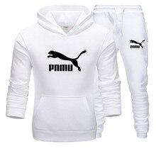 2 adet spor setleri eşofman erkekler kış kazak + Sweatpants kapşonlu spor takım elbise Ropa Hombre rahat erkekler/kadın kıyafetleri S-3XL
