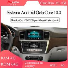 10.0 benz ml/gl 2012-2015 9 ntntg 4.5 sistema pantalla táctil gps navi multimídia 4g wifi dvr carplay