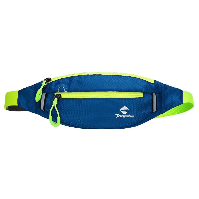 Jogging Waist Bag Travel Pocket Key Wallet Pouch Phone Holder Chest Marathon Bag Waterproof Nylon Sports Running Pockets Dark Bl