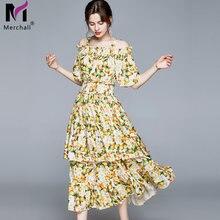 Женское модельное платье с вырезом лодочкой merchall винтажное