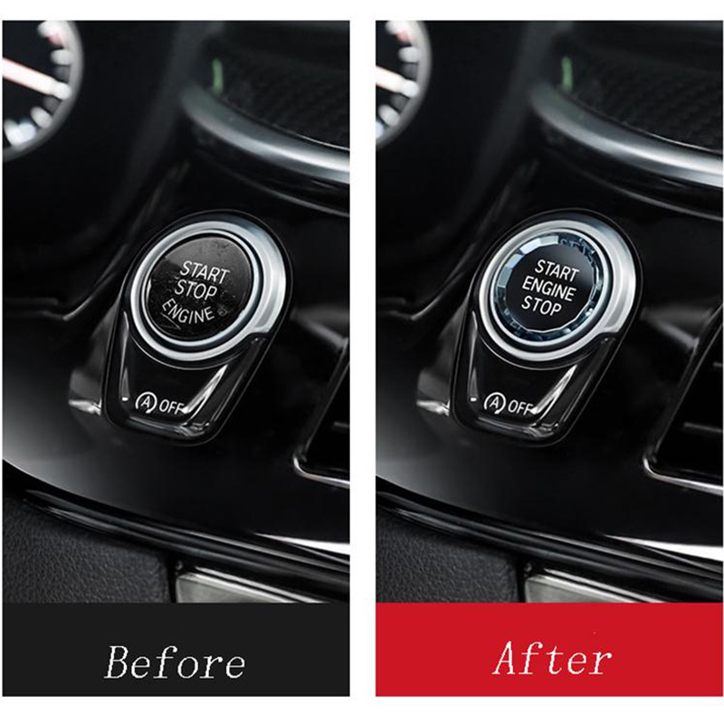 Image 4 - Car Engine Start Switch Button Crystal Cover For BMW E90 E60 E91 E92 E93 Z4 E89 X5 E70 X6 E71 E72 X1 E81 E87 E84 E83 Accessories-in Car Stickers from Automobiles & Motorcycles