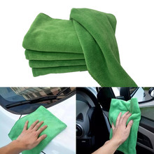 2 pcs Car Cleaning Towel Soft Microfiber Cleaning Small Wash Square Towel Water Absorption Cleaning 40X40cm Towel Anti stati