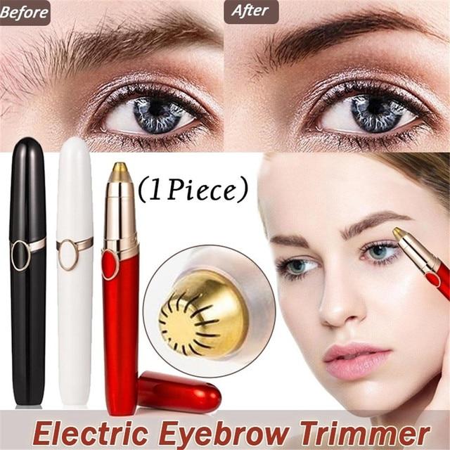 1PC Electric Eyebrow Trimmer Pen Shape Face Eyebrow Hair Remover Mini Eyebrow Shaver Razor Instant Painless Portable Epilator