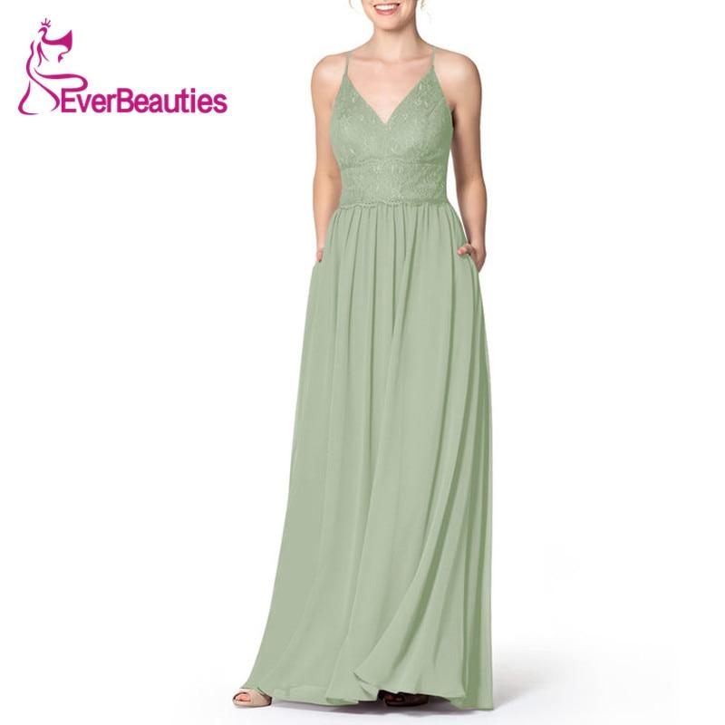 Wedding Guest Dress Light Green 019 Party Dress Halter Bridesmaid Dresses Vestido Madrinha Chiffon Sukienka Vestidos Para Festa