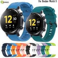 Cinturino in Silicone morbido per Realme Watch S SmartBand bracciale accessori cinturino cinturino per Huawei Honor Magic Watch 2 46mm