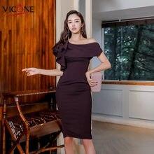 Женское облегающее платье vicone Сексуальные облегающие вечерние