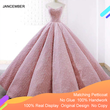 J66675 jancemberピンクquinceaneraのドレス 2020 ボールガウンのストラップレスの床長さのパーティードレスvestido quinceanera 15 платье на бал