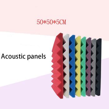 Nagrywanie dźwięk studyjny płyta izolacyjna kolor trójkąta rowek sufitowy 5cm materiał dźwiękochłonny materiał dźwiękochłonny pianka izolacyjna tanie i dobre opinie CN (pochodzenie) Winylu Gray white red yellow blue purple black Polyurethane decorative board Acoustic panels Soundproof