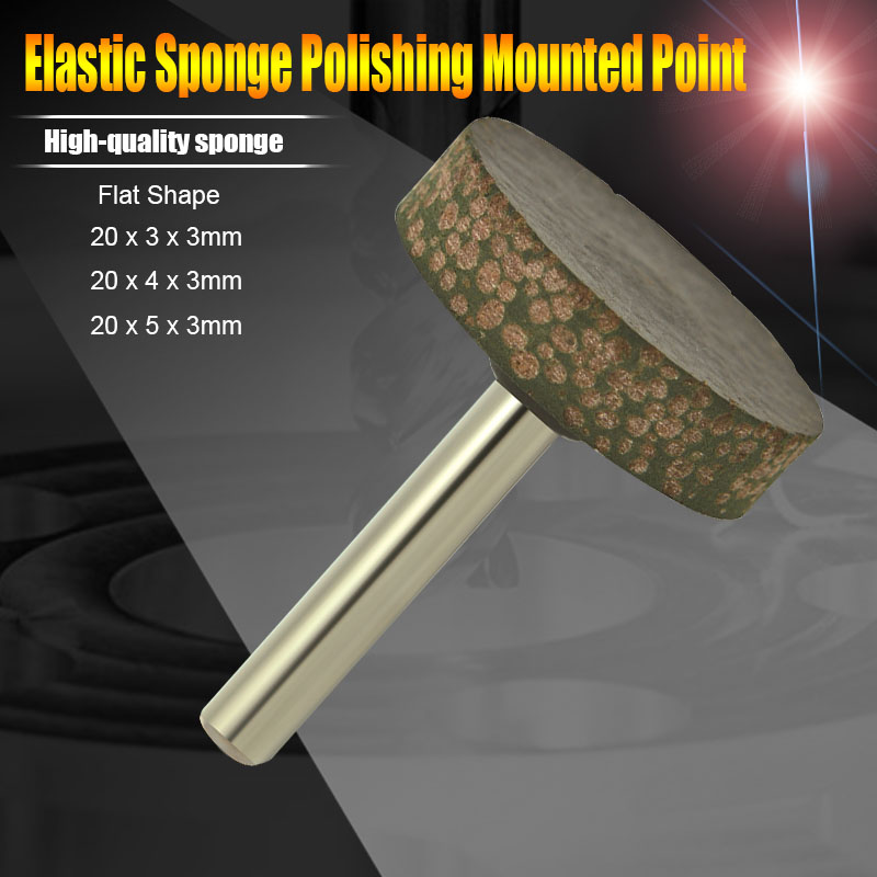100pcs/lot T Shape Elastic Sponge Mounted Point Grinding Stone Head Grinding Wheel Abrasive Grinding Head For Metal Polishing