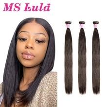 Brasilianische Haarwebart Bundles Gerade Haar MS Lula Remy Natürliche Farbe 30 Zoll Bundles 3 4 Stück Menschliches Haar Extensions für Frauen