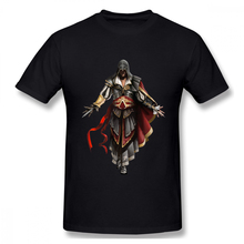 Assassins Creed Character print casual mens o-neck tee shirt homme and fashion 100% Cotton Hip Hop Streetwaear T-Shirt цена