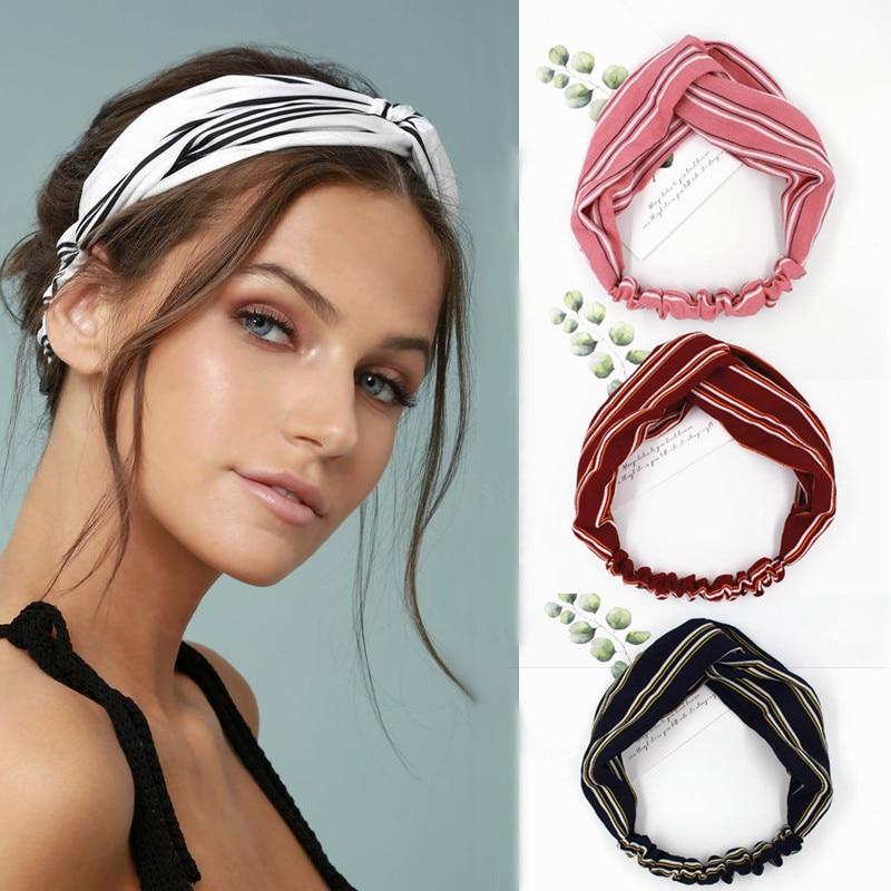 Baby Girl Kid Boho Bohemian Party braided knot Retro dots Hair head band Bandana