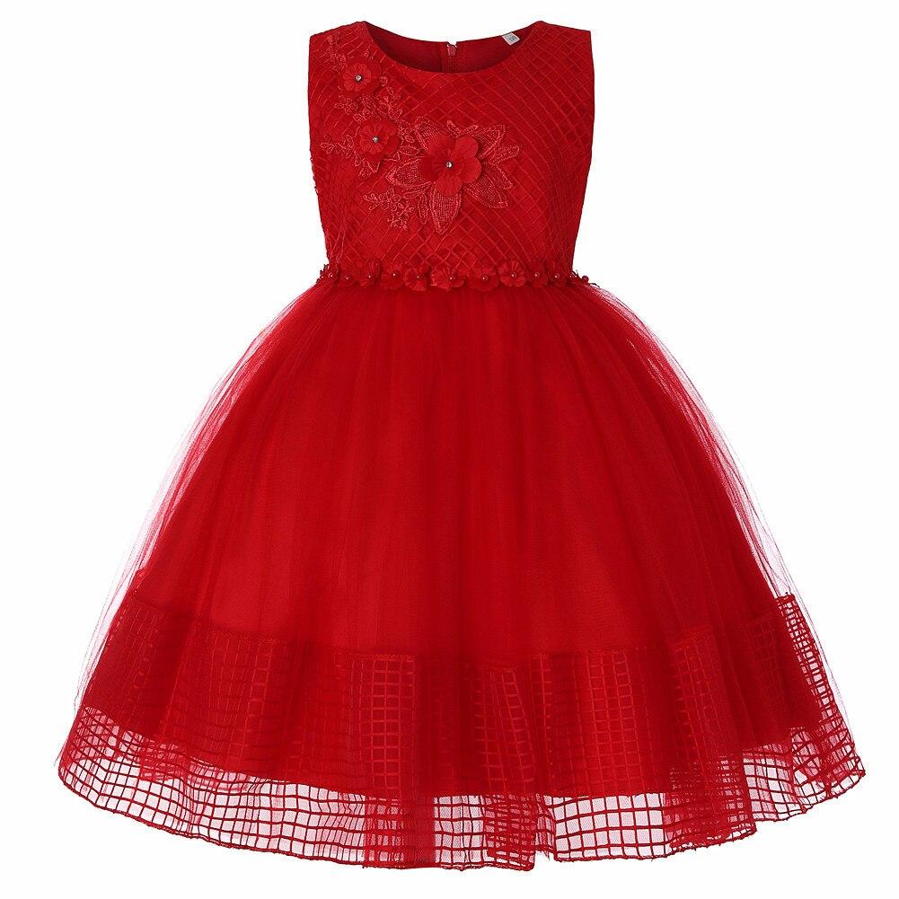 CHILDREN'S Full Dress Gauze Princess Tutu Flower GIRL'S Dress Grid Lace GIRL'S Christmas Clothing