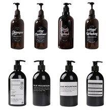 Shampoo Flasche Badezimmer Dispenser Flüssigkeit Dusche Gel Shampoo Presse Flasche seife Nachfüllbare Flasche