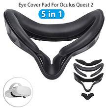 Almofada de cobertura de olho para oculus quest 2 capa de máscara de olho luz que bloqueia a capa de lente de couro macio do plutônio vr para a busca 2 almofada de nariz anti-escapamento