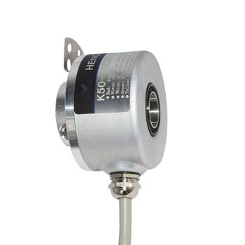 through hole 14mm K50 hollow shaft incremental encoder 4096 ppr 4096 pulse 4096ppr waterproof encoder gtk3808 5 24v photoelectric rotate encoder abz 3 phase hollow shaft general purpose encoder