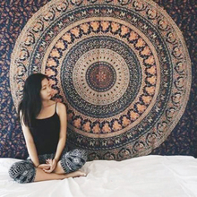 Indian Mandala Tarot Tapestry Bedspread Cover Beach Towel Blanket Decor Hanging Carpet Bohemian Psychedelic Background Cloth
