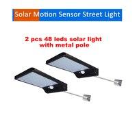2/4 stücke 48 LED Solar Lichter LED Outdoor Wasserdicht Motion Sensor Solar Wand Licht Für Garten Vier Modi Einstellbar Solar lampen se-in Solarlampen aus Licht & Beleuchtung bei