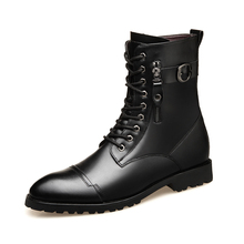 famous brand men boots cow leather shoes party nightclub dre