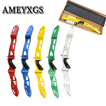 1pc Archery 25lbs Recurve Bow Riser lLF Universal Interface Magnesium Alloy Five-Color Handle Hunting Shooting Accessories
