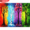 HUACAN DIY Pictures By Number Tree Kits Painting By Numbers Scenery Drawing On Canvas Hand Painted Paintings Gift Home Decor
