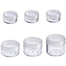 10 adet kozmetik kavanoz 2/3/5/10/15/20g küçük boş kozmetik doldurulabilir şişe plastik göz farı makyaj yüz kremi kavanoz Pot konteyner