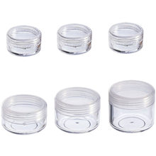 10Pcs Jar Cosméticos 2/3/5/10/15/20g Pequeno Cosméticos Vazio Recarregáveis garrafas de Plástico Jar Pot Eyeshadow Face Maquiagem Creme Container