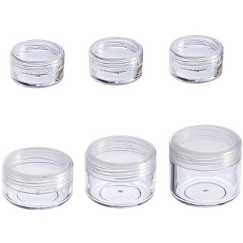 10Pcs Cosmetic Jar 2/3/5/10/15/20g Small Empty Refillable Bottles Plastic Eyeshadow Makeup Face Cream Pot Container - discount item  29% OFF Skin Care Tool
