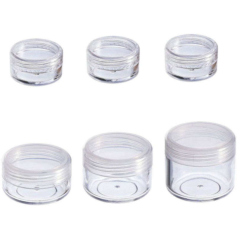 10Pcs Cosmetic Jar 2/3/5/10/15/20g Small Empty Cosmetic Refillable Bottles Plastic Eyeshadow Makeup Face Cream Jar Pot Container