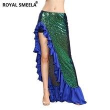 Bling Bling Sequin Dance Skirts Woman Belly Dance Costume