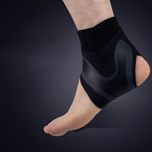 Soporte de tobillo 1 uds, protección de vendaje de pie de Ajuste libre de elasticidad, protector deportivo de prevención de esguince, banda de Fitness 8 5