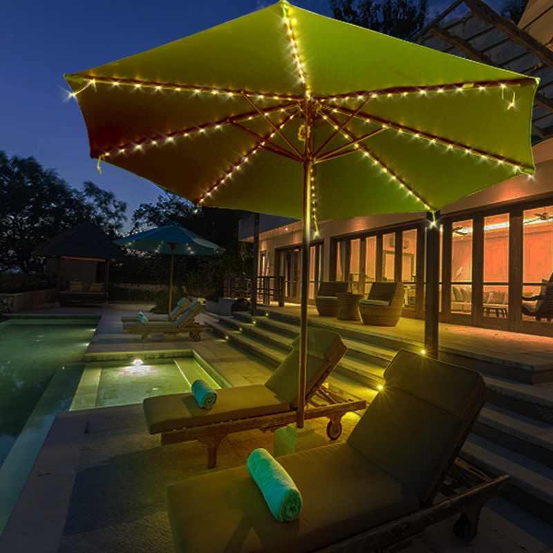 1. 104 LED RGB LED Strip String Lampu dengan Remote Control Terang Tinggi Kawat Tembaga Home Decro Payung String Lampu Baru