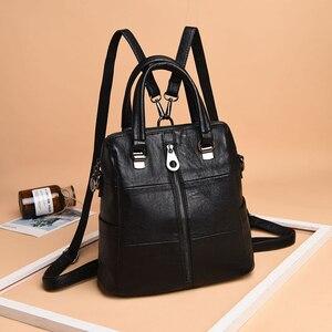 Image 3 - Luxury Women Leather Backpack Female Shoulder Bags For Women 2020 Travel Backpack Bagpack Mochilas School Bags For Teenage Girls