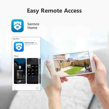 SANNCE 4CH HD 1080P CCTV System 1080P HDMI Output CCTV DVR HD 2.0MP Security Cameras IR night Waterproof Surveillance kit
