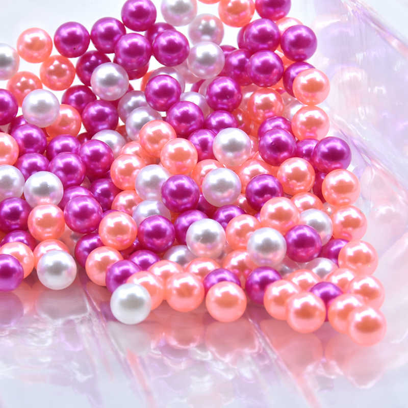 500-10000pcs 6//8//10mm No Hole Pearl Round Spacer Loose Beads 16 Color