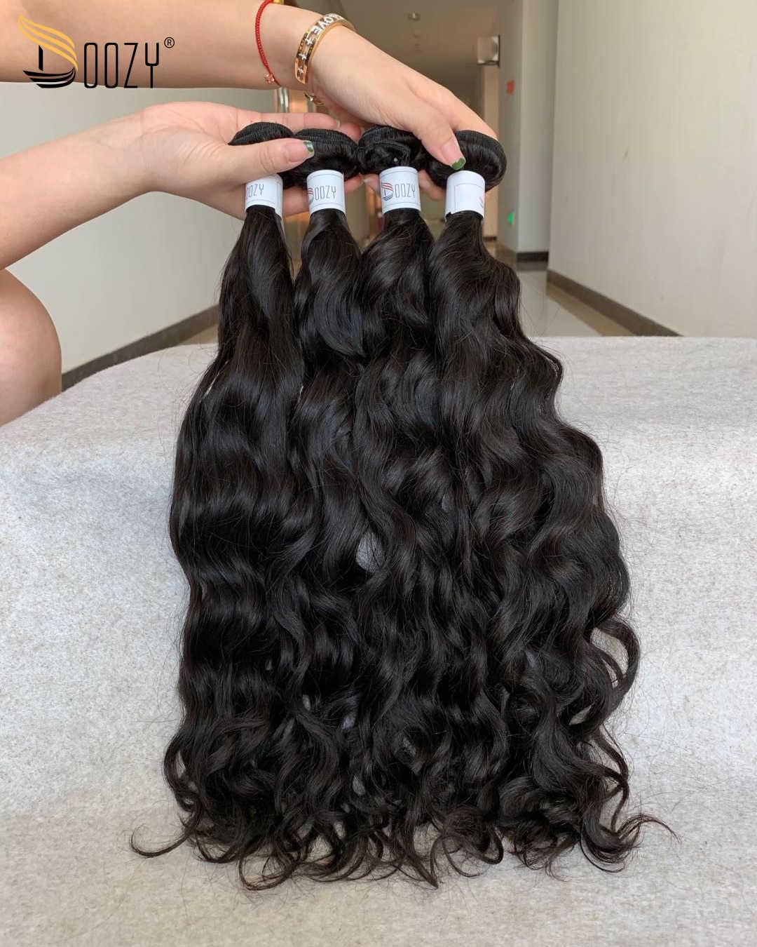 Doozy cabello peruano onda Natural cabello humano virgen 4 paquetes