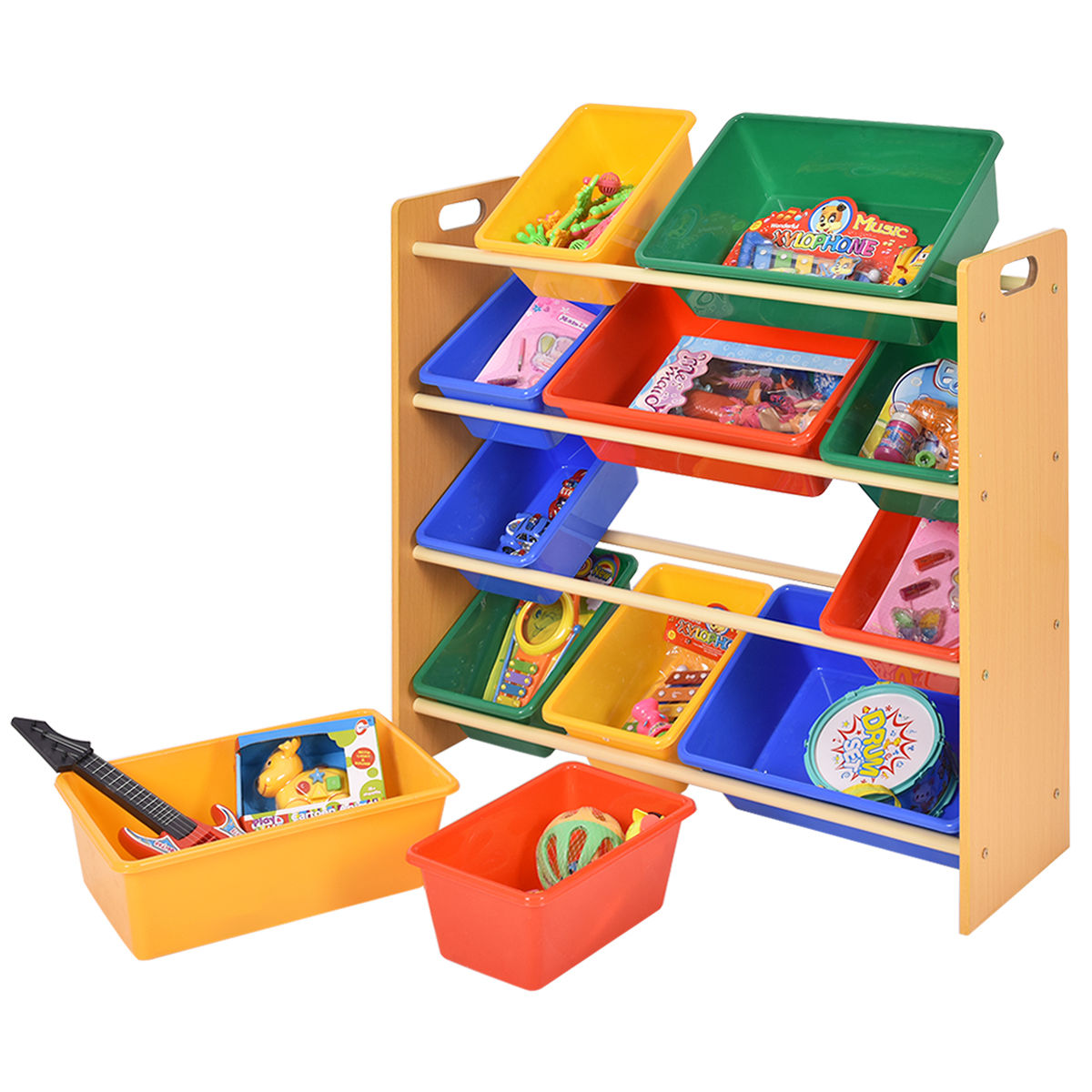 Toy Bin Organizer Kids Childrens Storage Box Playroom Bedroom Shelf Drawer