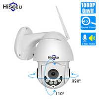 Hiseeu 1080P Senza Fili PTZ Della Cupola di Velocità del IP WiFi Della Macchina Fotografica Esterna A Due Vie Audio CCTV di Sicurezza Video Telecamera di Sorveglianza di Rete p2P
