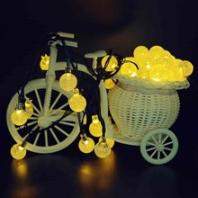 6M 30 LED Outdoor Garden Terrace Party Christmas Crystal Ball Fairy Light Decorative Light Solar LED Outdoor Light String
