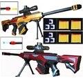 2 peças rifles de atirador de brinquedo, escopo, nerfs e balas de bola de água. Balas macias do otário de eva