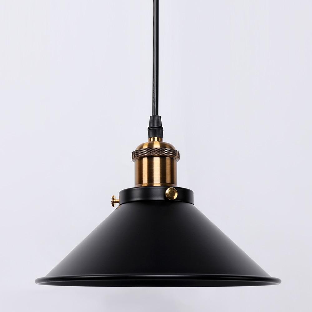 Retro loft LED E27 iron black decoration pendant lights hanging lamp for bedroom kitchen restaurant Living room indoor lighting